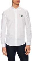 Kenzo Linen Logo Button-Down Sportshirt