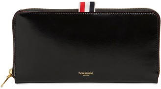 Thom Browne Smooth Leather Zip-Around Wallet