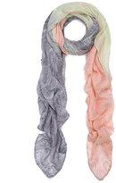 TrendsBlue Elegant Ombre Paisley Scarf Wrap
