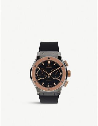 Hublot 521.no.1181.lr classic fusion titanium king gold watch