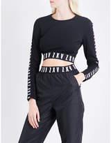 Versus Versace Versus x Zayn ZXV-print cropped jersey top