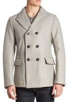 Billy Reid Double-Breasted Wool Blend Peacoat