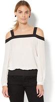 New York & Co. 7th Avenue - Colorblock Cold-Shoulder Blouse
