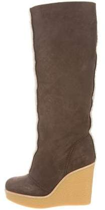 Chloé Round-Toe Suede Boots w/ Tags