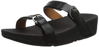 FitFlop Women's Edit Slide Open Toe Sandals,39 EU
