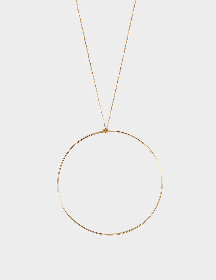 ginette_ny Jumbo Circle 18-karat rose gold necklace