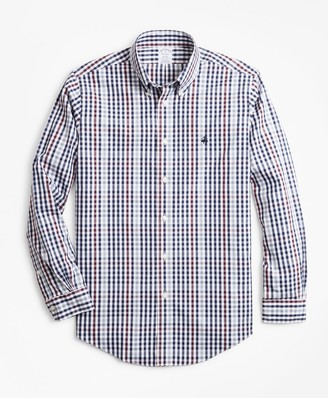 Brooks Brothers Non-Iron Regent Fit Multi-Gingham Sport Shirt