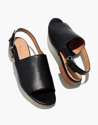 Madewell The Noelle Slingback Sandal in Leather
