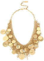Kenneth Cole New York Shaky Pave Disc Fringe Mesh Frontal Necklace