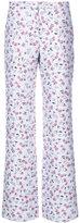 Altuzarra floral print straight trousers - women - Silk/Polyamide/Polyester/Acetate - 36