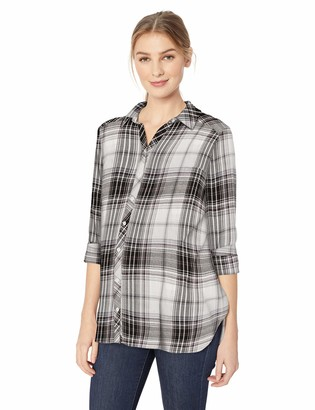 Motherhood Maternity Women's Maternity Side Vent Button Down Nursing Woven Shirt