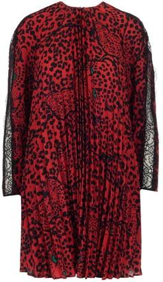 RED Valentino Animal Print Pleated Dress