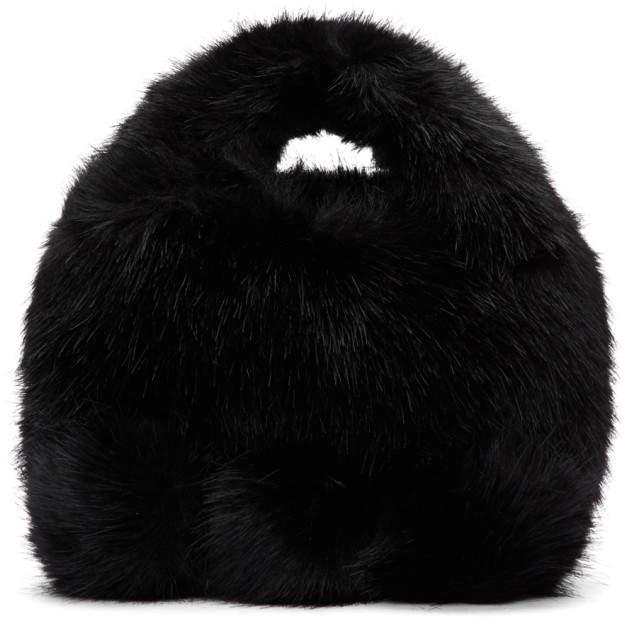 Comme des Garcons Black Faux-Fur Bag