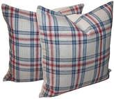 One Kings Lane Vintage Plaid Pillows - Set of 2