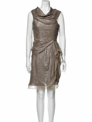 J. Mendel Silk Mini Dress w/ Tags Metallic