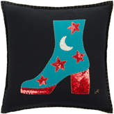 Jan Constantine Glam Rock Sequin Boot Cushion - Black