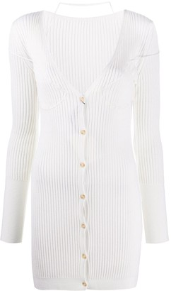 Jacquemus Button-Front Rib-Knit Dress