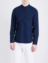 Sandro Mardarin-collar regular-fit pure-cotton shirt