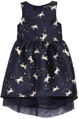 Trixxi Jacquard Unicorn Party Dress