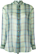 Etro plaid sheer shirt