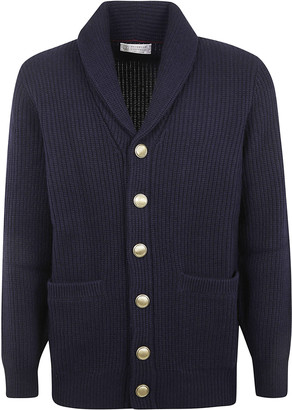 Brunello Cucinelli Side Patch Pocket Buttoned Cardigan
