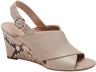 Banana Republic Crossover Wedge Sandal