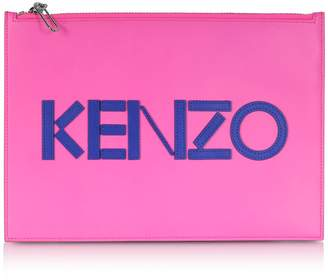 Kenzo A4 Colorblock Leather Clutch