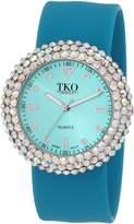 TKO ORLOGI Women's TK613CLTQ Crystal Teal Slap Watch