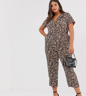 Unique21 Hero tonal abstract animal tailored jumpsuit