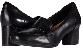 Clarks Un Cosmo Way (Black Leather) Women's Shoes