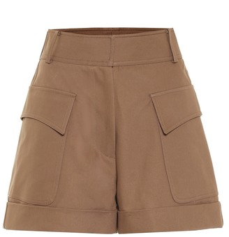 Victoria Beckham High-rise cotton shorts