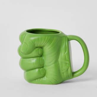 River Island Mens Marvel Avengers Green hulk fist mug