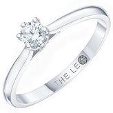 Leo Diamond 18ct White Gold 0.20ct CT I-P1 Diamond Ring