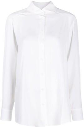Raquette Rear Slit Fluid Shirt