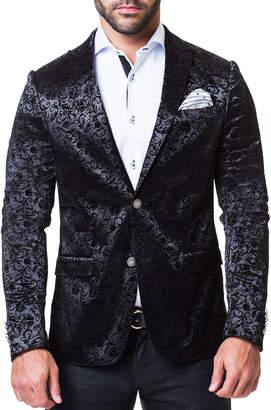 Maceoo Men's Blazer in Descartes System, Black