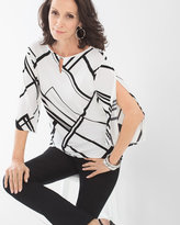 Chico's Abstract Lines Top