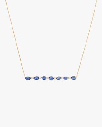 Amrapali Rashmika Diamond Blue Sapphire Bar Necklace