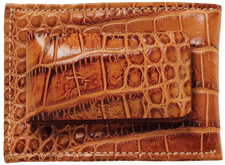 Moore & Giles Alligator Leather Magnetic Money Clip Wallet