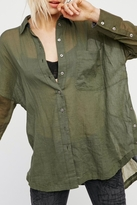 Free People Rainbow Rays Button Down