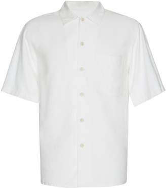 Ami Short-Sleeve Jersey Button-Up Shirt