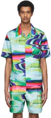 Rochambeau Multicolor Scramble Print Short Sleeve T-Shirt