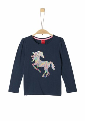S'Oliver Girl's 52.912.31.8807 Long Sleeve Top