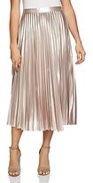 1 STATE 1.state Metallic Pleated Midi Skirt