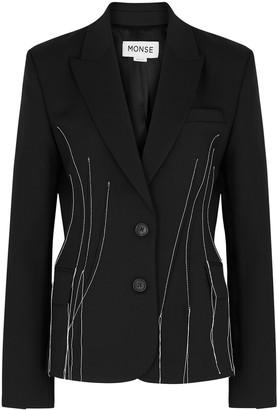 Monse Black stretch-wool blazer