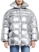 Off-White Quilted Nylon Puffer Coat