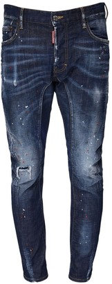 DSQUARED2 17cm Tidy Biker Stretch Denim Jeans