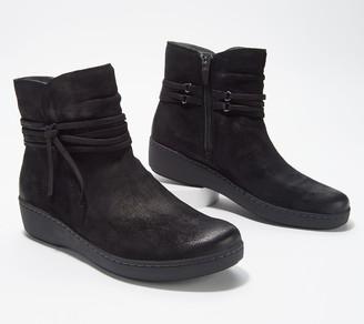 Dansko Burnished Suede Leather Ankle Boots- Evelyn
