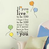 Roommates Disney Winnie the Pooh ''Live to be 100'' Wall Decals