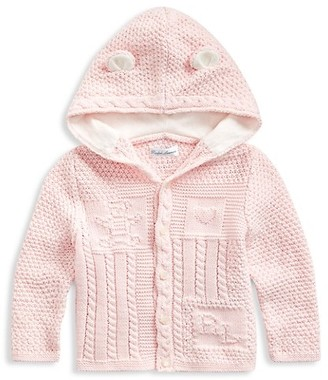 Ralph Lauren Baby Girl's Bear-Ear Knit Cardigan