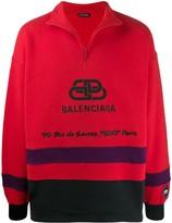 Balenciaga logo-printed ski sweater